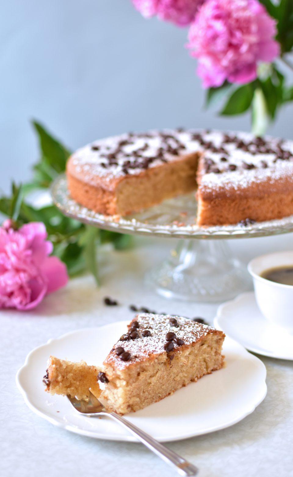 Kuchen mit Puderzucker bestäubt
